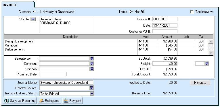 how to make invoices in myob