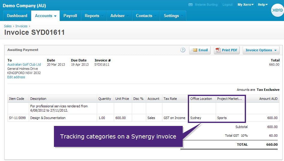 tracking invoices