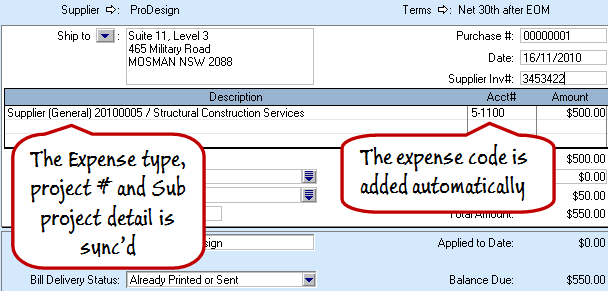 Connect Supplier Expense Settings