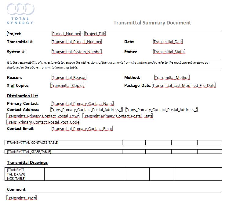 transmittal document template. Black Bedroom Furniture Sets. Home Design Ideas